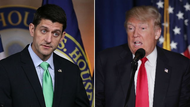Trump Endorses Ryan in Bid to Heal Republican Rift