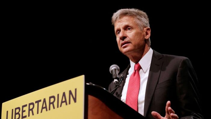 Who Favors Gary Johnson, the Libertarian Candidate for President?