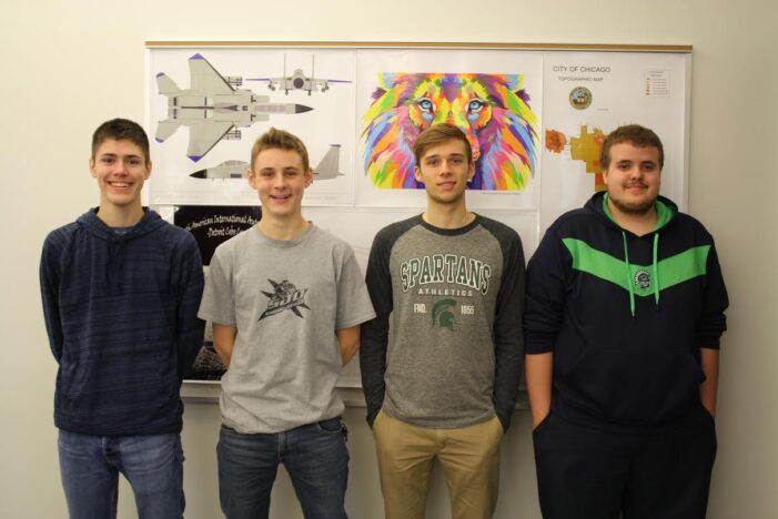 Tech Center students earn top five spots in college CAD contest