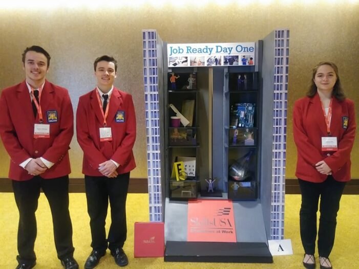 Students earn first in state with design of career showcase