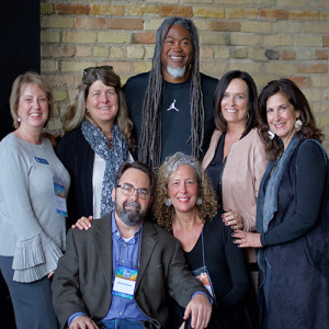 Jimmy Smith is pictured with a group of his classmates from the Mona Shores High School Class of 1980 at the Do More Good conference in Grand Rapids on Oct. 10